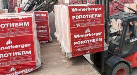 Керамические блоки поставляются на поддонах и в заводской упаковке, защищающей их от ударов и влаги