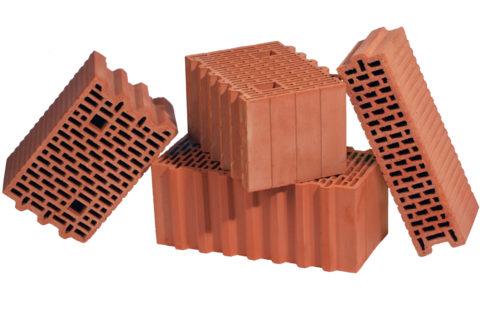 Разные виды керамоблоков