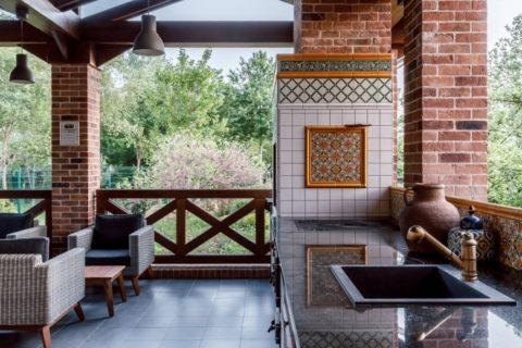 Баня: проекты из пеноблоков с верандой
