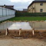 Опорная часть бани – фундаментная плита