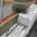 Структура стены: пеноблок, минвата и кирпич