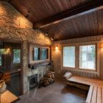 Вариант оформления комнаты отдыха с камином