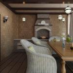 Вариант отделки комнаты отдыха